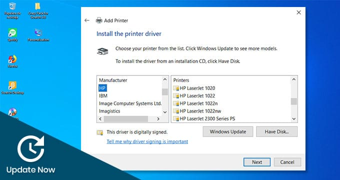 updating printer driver importantance