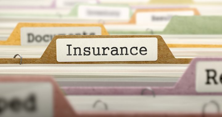 Insurance Concept on File Label in Multicolor Card Index. Closeup View. Selective Focus.