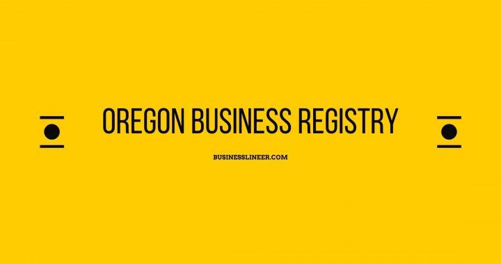 oregon business registry