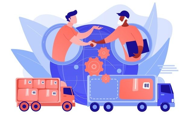worldwide-shipping-service-international-distribution-collaborative-logistics-supply-chain-partners-freight-cost-optimization-concept-pinkish-coral-bluevector-isolated-illustration_335657-1757