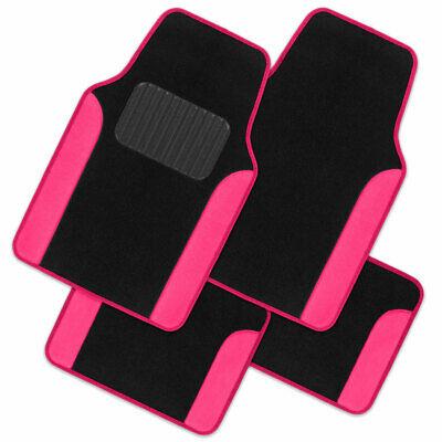 pink and black car floor mats